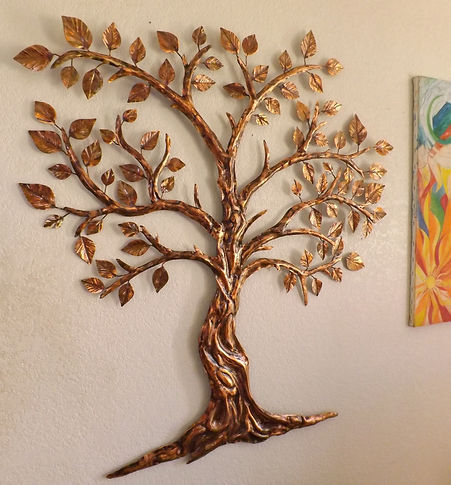 Copper Tree Art Wall Hanging Sculpture