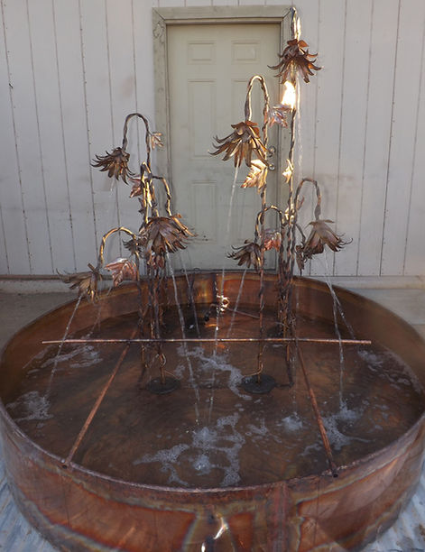 20 Copper Floral Water Flower Fountain N