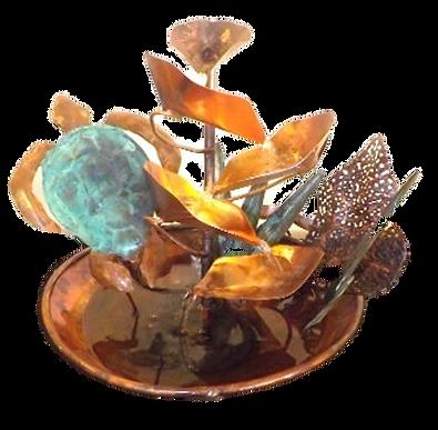Sea Turtle and Coral Reef Small Copper F