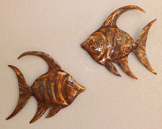 Copper Angel Fish Wall Hanging Art 1 (12