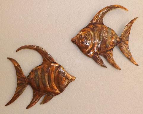 Copper Angel Fish Wall Hanging Art 1 (12