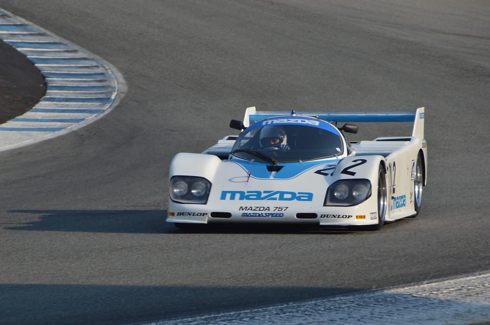 mazda 757 race car at laguna seca