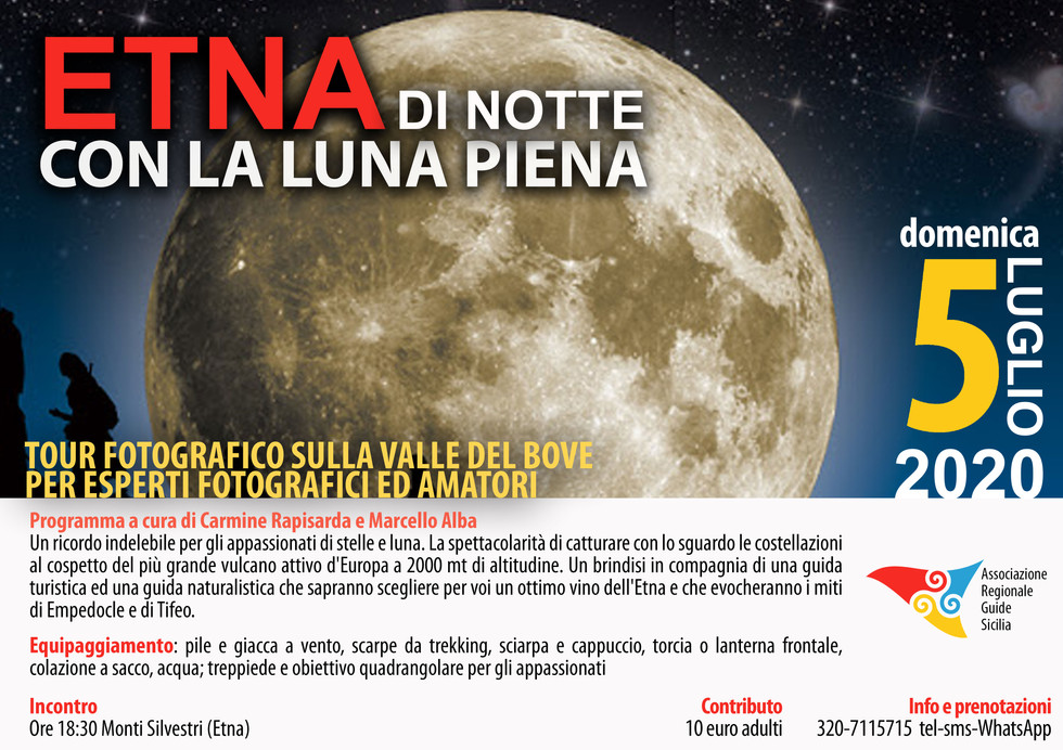 Luna piena Etna