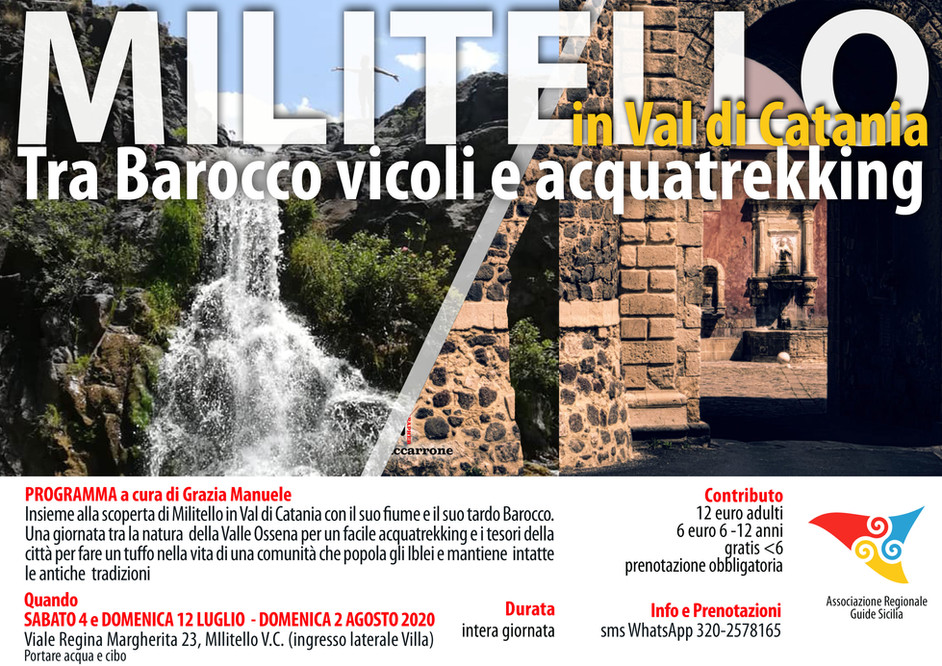 Militello - Tra Barocco vicoli e acquatrekking