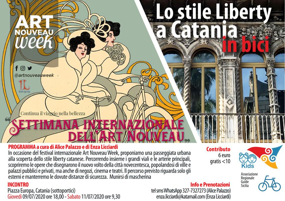 Liberty a Catania in bicicletta