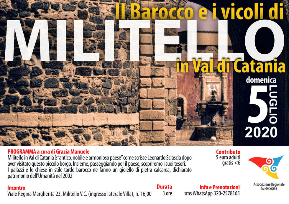 Il Barocco e i vicoli di Militello in Val di Catania