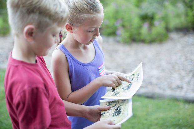 Kids Reading Kaart