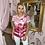 Thumbnail: PASSIONI Pink Stripe Floral T.Shirt
