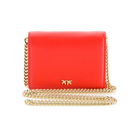 PINKO Red Shoulder Credit Card Holder