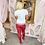 Thumbnail: LEO White, Red Beach Embellished T.Shirt