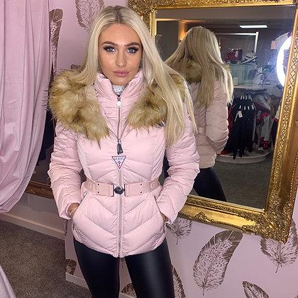 GUESS Light Pink Belted Jacket