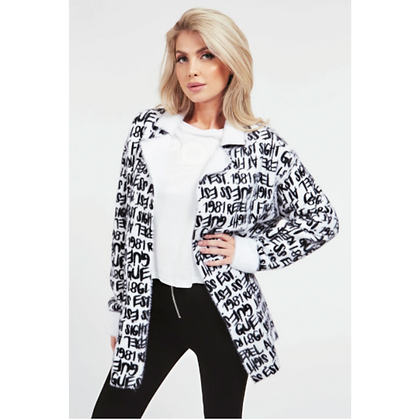 GUESS Reversible Font Jacket