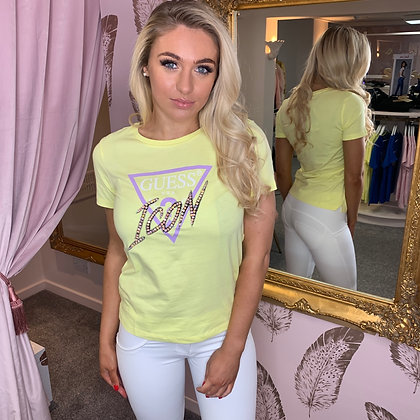 GUESS Yellow ICON T-Shirt