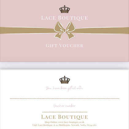 LACE BOUTIQUE GIFT VOUCHER