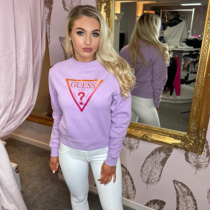 Guess Lilac Triangle Sweater