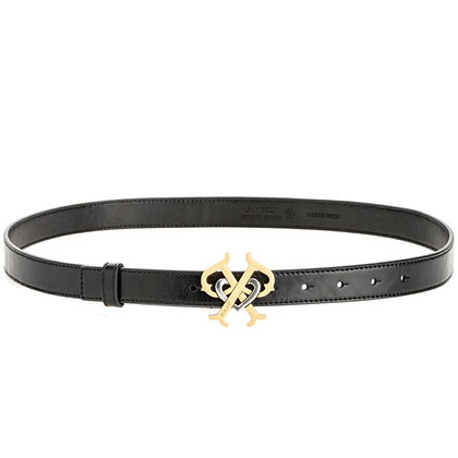 PINKO Leather Belt with Double P Buckle