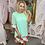 Thumbnail: LB Mint Floral Embellished Tunic Dress
