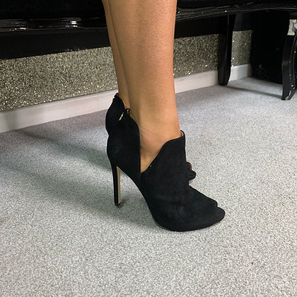 GUESS Aubry Black Suede Ankle Boot