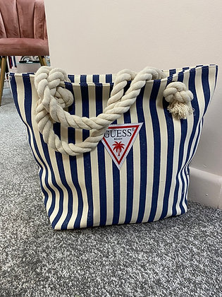 GUESS Stripe Canvas Bag