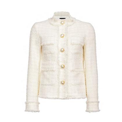 PINKO Cream Tweed Jacket