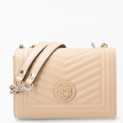 Guess Beige Quilted Crossbody Bag
