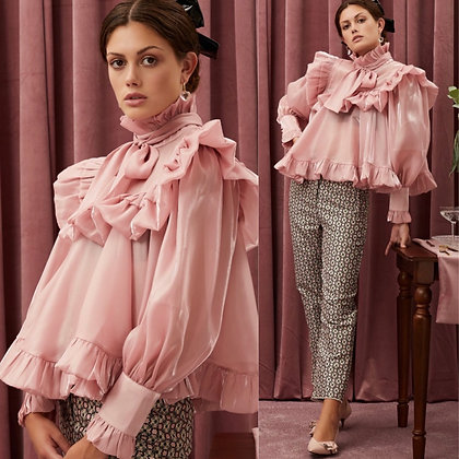 LB Pink Frill Blouse