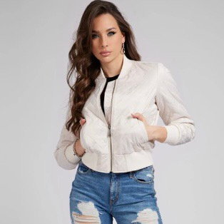 GUESS Padded Embroidered Jacket