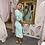 Thumbnail: LB Mint Dress with Jacquard Puff Sleeve