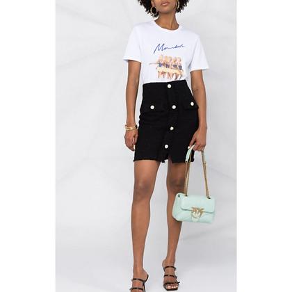 PINKO Black Tweed Mini Skirt