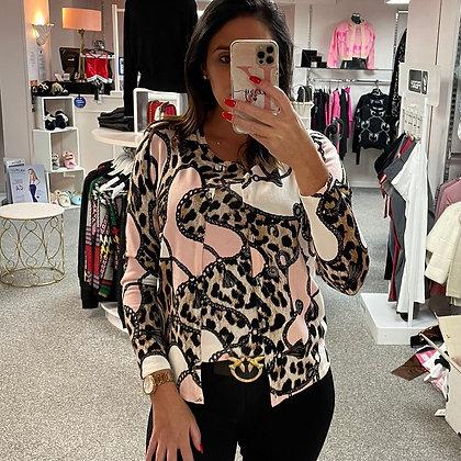PASSIONI Pink/Leopard Print Twinset