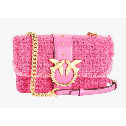 PINKO Pink Tweed Mini Love Bag