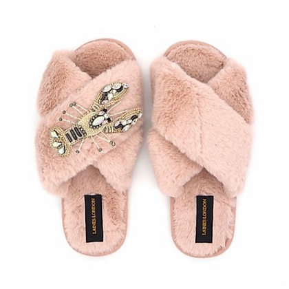 LAINES Pink Lobster Slippers