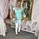 Thumbnail: LEO Aqua Knit Tee with Silver Embellishments