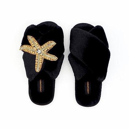 LAINES Black Starfish Slipper