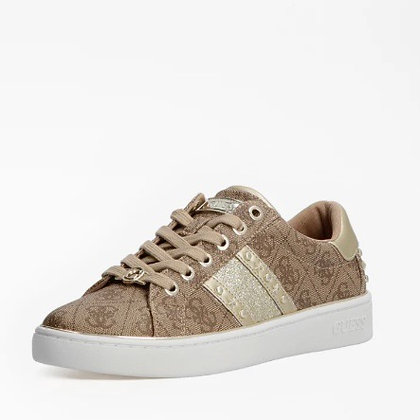 Guess Brown/Gold Logo Trainer