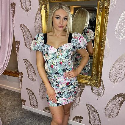 LB Floral Multi Print Skirt Set