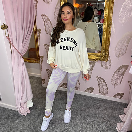 LB Cream WEEKEND READY Sweater