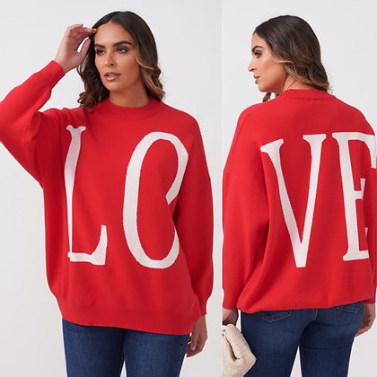LB Red LOVE Sweater