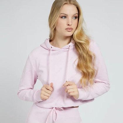 Guess Pink Logo Hoodie