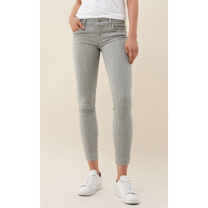 Salsa Push Up Wonder Capri Striped Jean