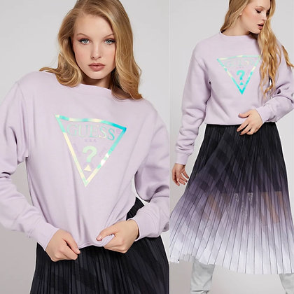 Guess Lilac Silver Triangle Sweater