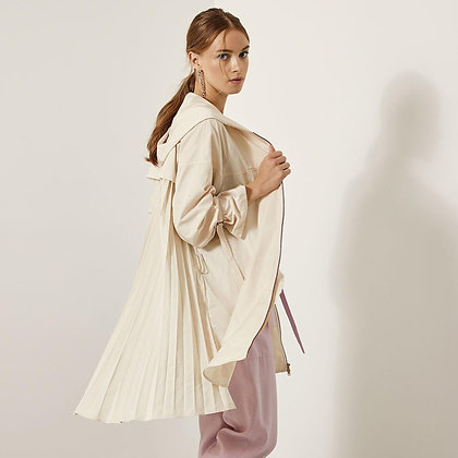 LB Cream Pleated Jacket