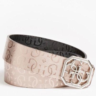 Guess Black/Bronze Reversible Belt