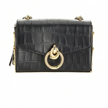 PINKO Organized Clutch Love Link Bag Croc-effect