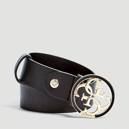 Guess Black 4G Logo Belt