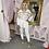 Thumbnail: LB White with Mesh Detailing Trouser Set