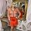 Thumbnail: PINKO Orange Mini Skirt