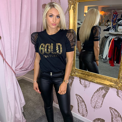 LB Black GOLD COUTURE Tee