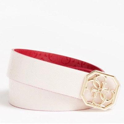 Guess Pink/Cherry Reversible Belt