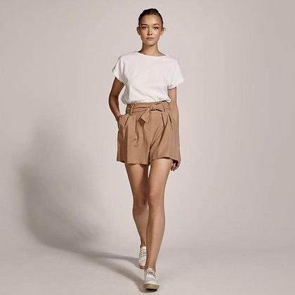 LB Tan Pleat Shorts